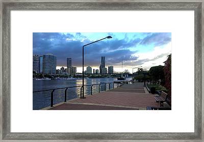 Riverwalk Framed Print by Edwin Vincent