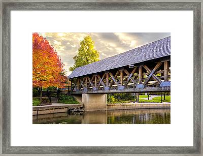 Riverwalk Footbridge Framed Print