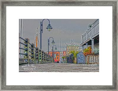 Riverwalk Framed Print by Marie Kirschner
