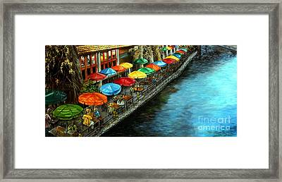 Riverwalk San Antonio Framed Print