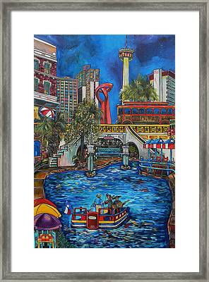 Riverwalk View Framed Print by Patti Schermerhorn
