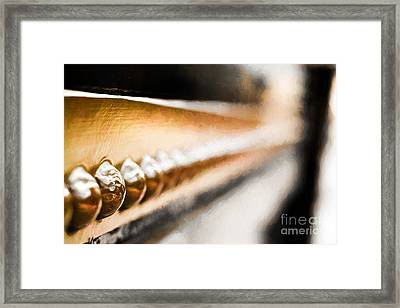 Rivet Abstract Framed Print by Terry Weaver