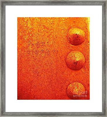 Rivets Framed Print