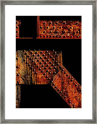 Rivets Number Two Framed Print by Bob Orsillo