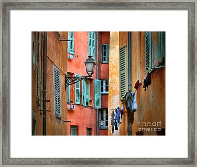 Riviera Alley Framed Print by Inge Johnsson