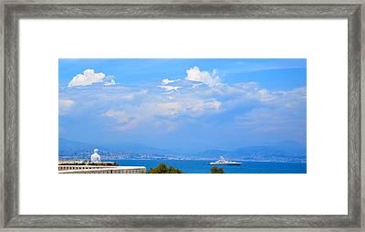 Riviera Blues Framed Print by Corinne Rhode