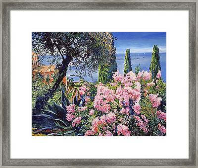 Riviera Coast Framed Print by David Lloyd Glover