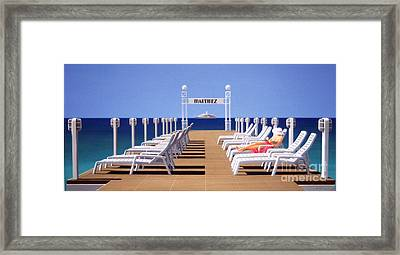 Riviera Dreaming Framed Print