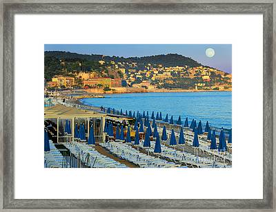 Riviera Full Moon Framed Print by Inge Johnsson