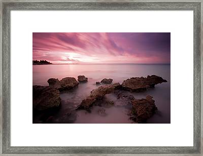 Riviera Maya Sunrise Framed Print by Adam Romanowicz