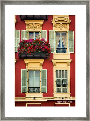 Riviera Windows Framed Print by Inge Johnsson