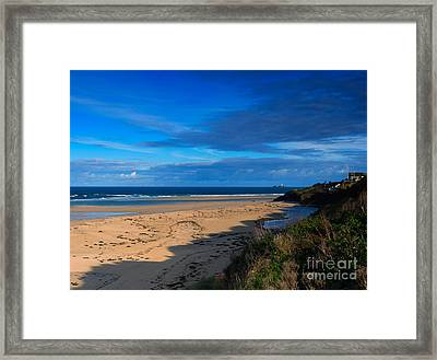 Riviere Sands Cornwall Framed Print by Louise Heusinkveld
