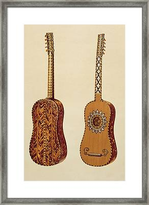 Rizzio Guitar, From Musical Instruments Framed Print by Alfred James Hipkins