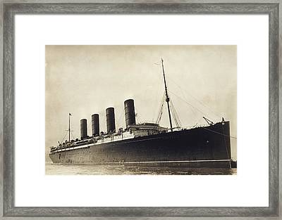 Rms Lusitania, Early 20th Century Framed Print