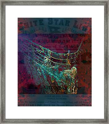 Rms Titanic Sinks  Framed Print by Elizabeth McTaggart