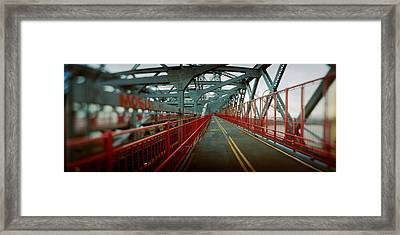 Road Across A Suspension Bridge Framed Print by Panoramic Images