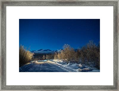 Road And Landscape, Cold Temperatures Framed Print by Panoramic Images