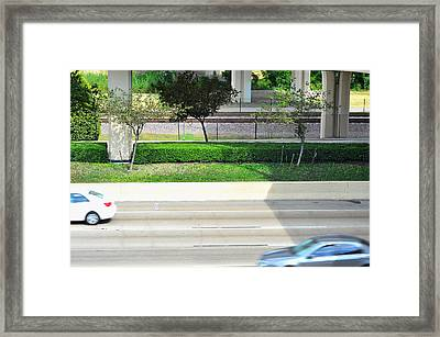 Road And Rail Framed Print