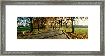 Road At Chateau Chambord France Framed Print by Panoramic Images