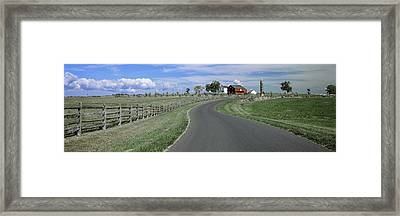 Road At Gettysburg National Military Framed Print