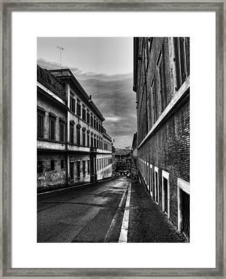 Road At Night Framed Print