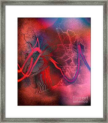 Road Between Worlds Framed Print by David Neace
