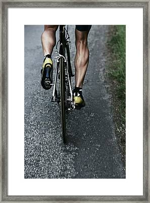 Road Bike Rider Framed Print by Gibsonpictures