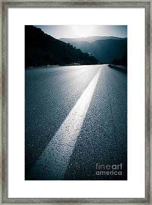 Road Framed Print by Boon Mee
