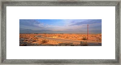 Road Desert Springs Ca Framed Print by Panoramic Images