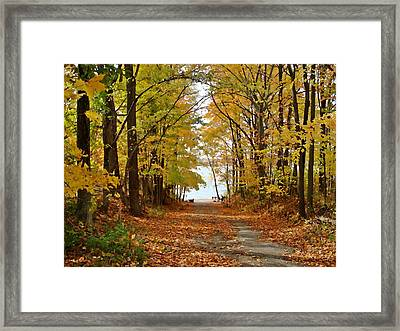 Road Ends At Water Framed Print by BackHome Images