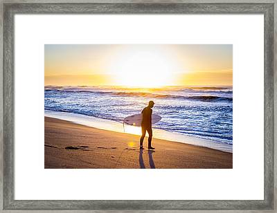 Road G Sunny Morning Framed Print