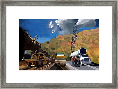 Road Gang Framed Print by Brad Burns
