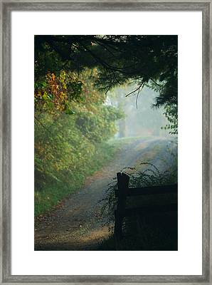 Road Goes On Framed Print