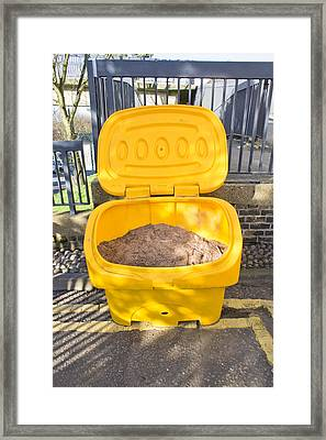 Road Grit Framed Print