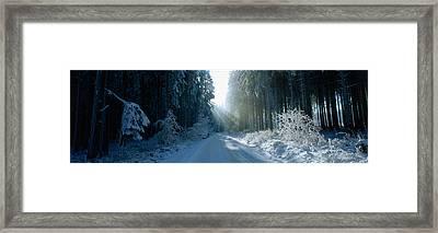 Road, Hochwald, Germany Framed Print