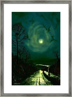 Road Home To Wharfedale Framed Print