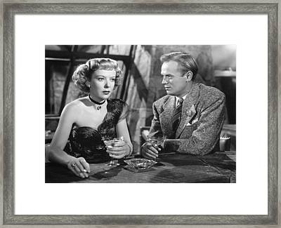 Road House, From Left Ida Lupino Framed Print by Everett