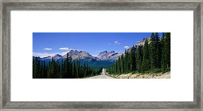 Road In Canadian Rockies, Alberta Framed Print by Panoramic Images