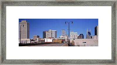 Road Into Downtown Nashville Framed Print by Panoramic Images