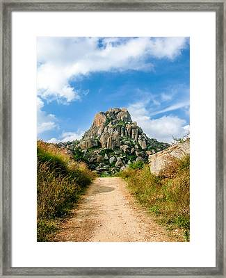 Road Into The Hills Framed Print