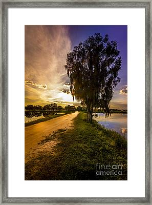 Road Into The Light Framed Print by Marvin Spates