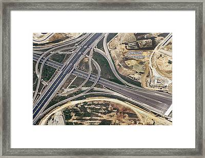 Road Junction, Madrid Framed Print by Blom ASA