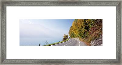 Road, Lake, Brienz, Switzerland Framed Print by Panoramic Images