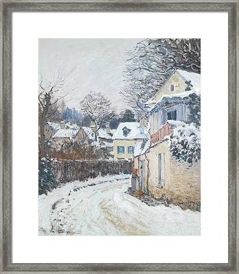 Road Louveciennes Framed Print by Alfred Sisley