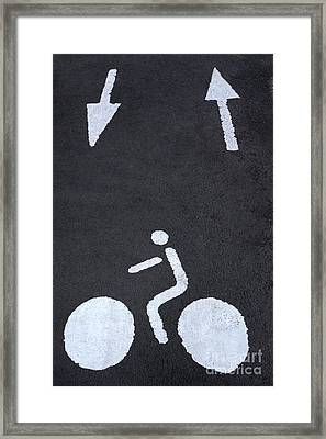 Road Marking Framed Print by Bernard Jaubert