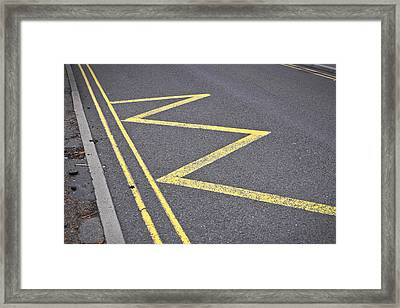 Road Markings Framed Print