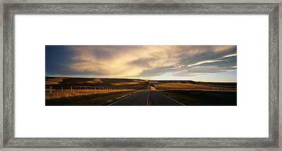 Road, Montana, Usa Framed Print