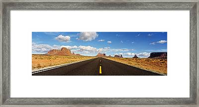 Road, Monument Valley, Arizona, Usa Framed Print by Panoramic Images