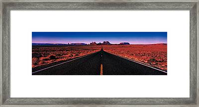 Road Monument Valley Tribal Park Ut Usa Framed Print by Panoramic Images
