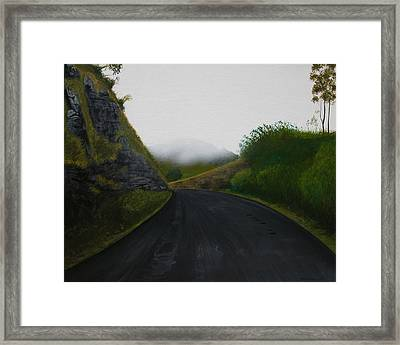 Road Near Gresford Nsw Framed Print by Tim Mullaney